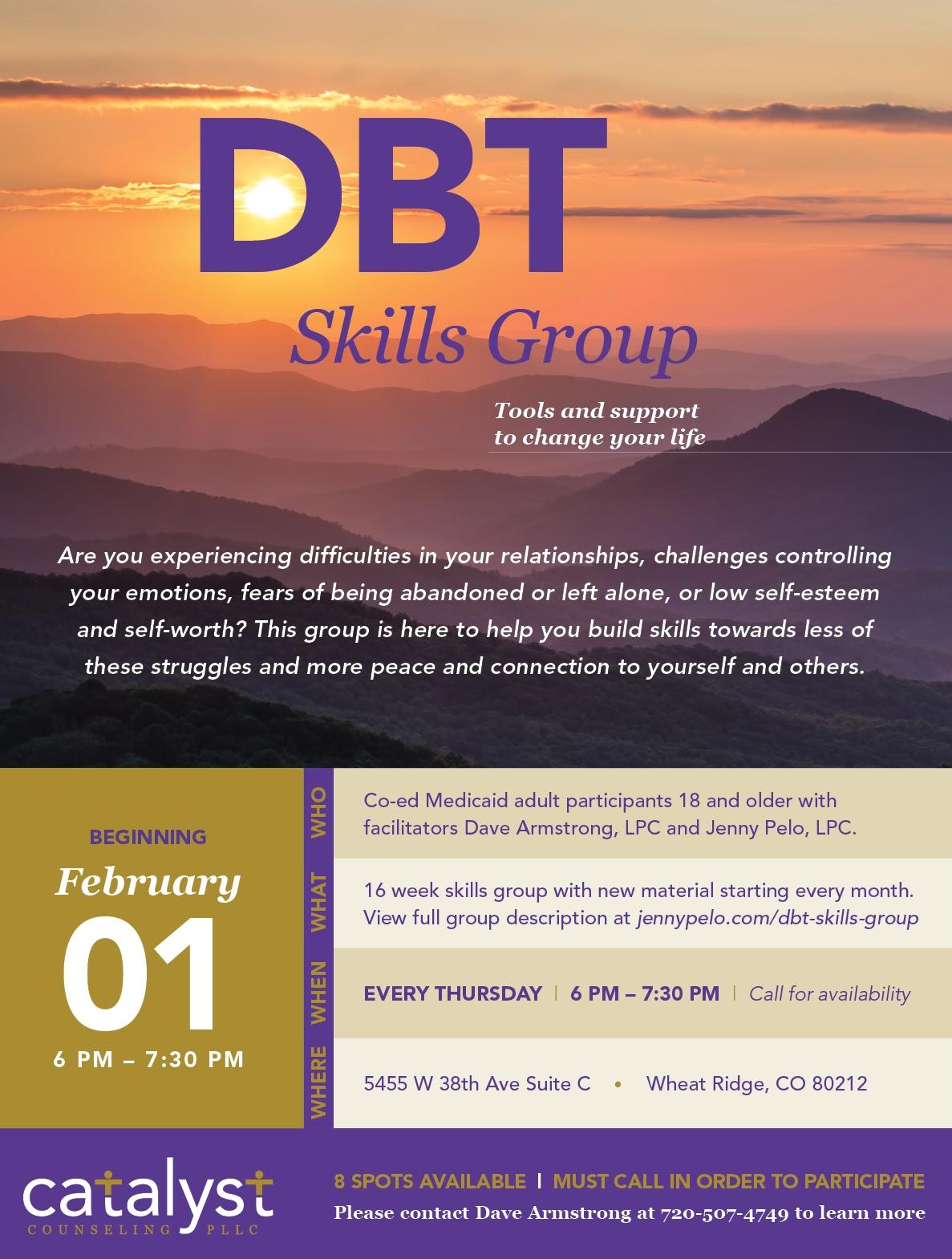 DBT Skills Group Flyer
