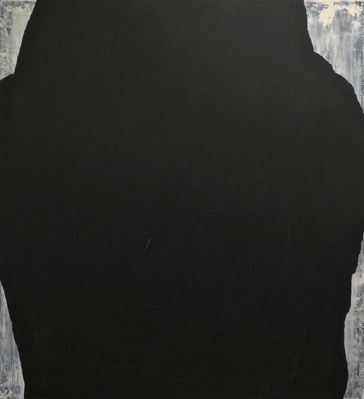 (5) Periphery    acrylic & mixed media on canvas, 51 x 47 inches