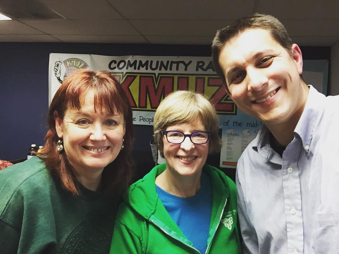 Ann Peck McBride, host (left), Beth Nevue, host (center), Eliot Grasso (right)