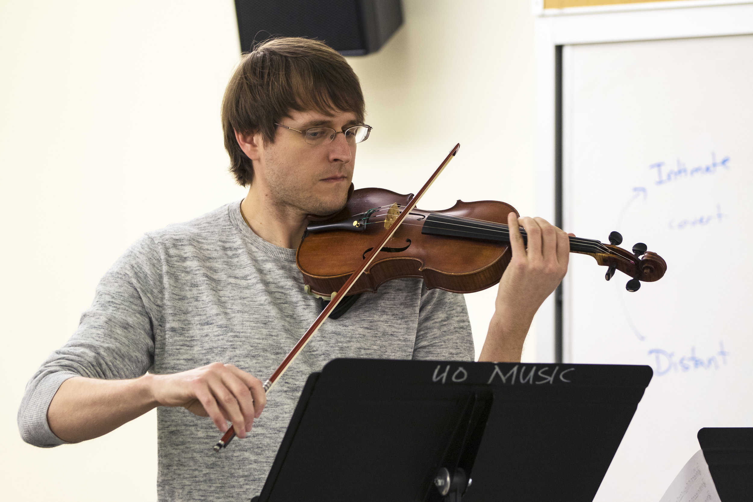 Dr. Wyatt True, violin, Delgani String Quartet