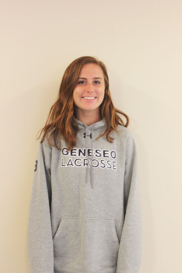 Junior midfielder Erin Cregan has been a key asset to the Geneseo women's lacrosse program. Cregan seeks to lead the women to a successful season as one of the team's current captains. (Alicia Roth/Staff Photographer)