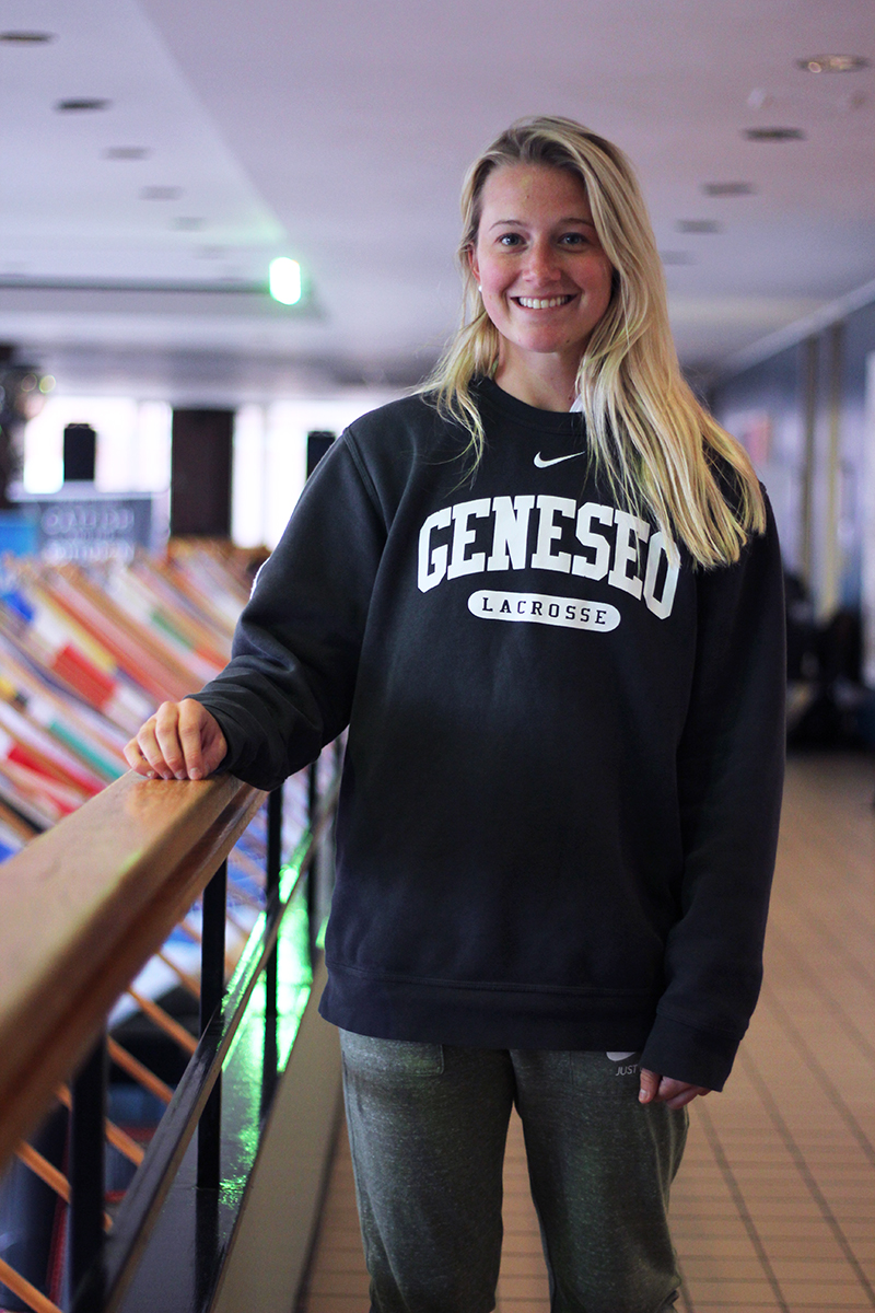 Junior forward Hannah Millich brings both skill and positivity to the Geneseo women's lacrosse program. After she graduates, Millich hopes to bring her positive attitude into the classroom as a special education teacher.(Ash Dean/Photo Editor)