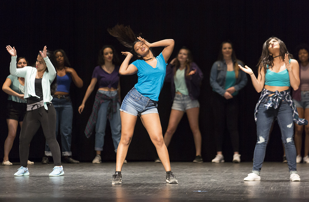 Orignal Xpressions dance crew performed its second annual spring showcase on Sunday April 23 in Wadsworth Auditorium. The performance was filled with vigor and life, as it celebrated dance across five different decades. (Annalee Bainnson/Assoc. Photo Editor)