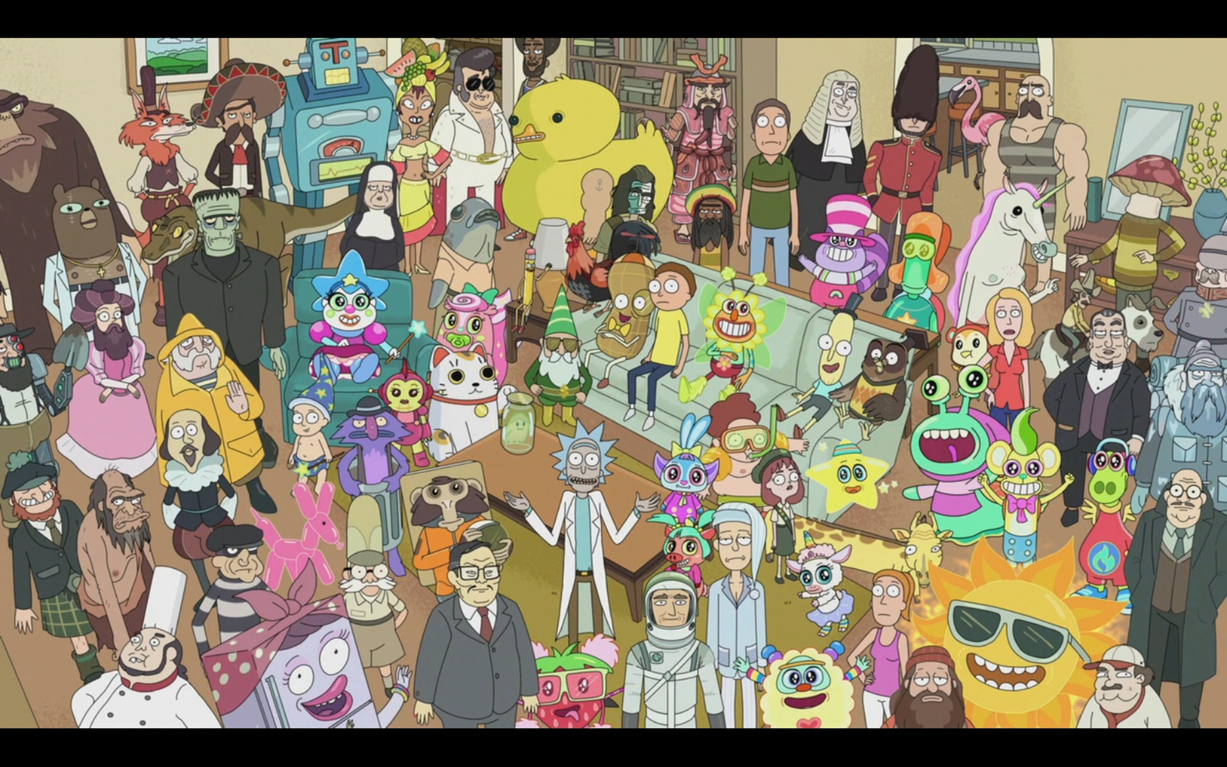 """Adult Swim's """"Rick and Morty"""" aired its season three finale on Sunday Oct. 1. After having the season premiere on April Fools' Day, the entirety of season three lived up to fans' expectations with wacky hijinks from main characters Rick and Morty. Pictured above: a screencap from season two, episode four: """"Total Rickall."""" (Courtesy of Creative Commons)"""