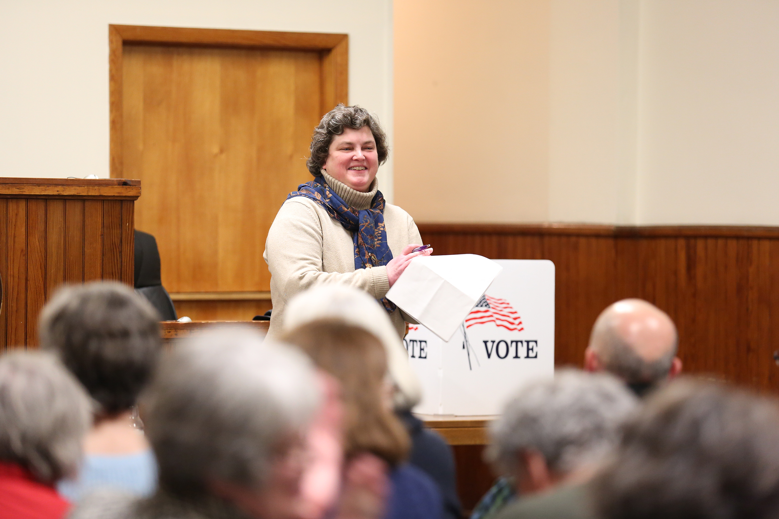 Livingston County Democratic Committee Chair Judith Hunter presided over the caucus of village Democrats on Monday Jan. 29 (pictured above). The Democratic and Republican caucuses each selected candidates for the positions of Mayor, Village Justice and Village Trustees. (Annalee Bannison/Photo Editor)