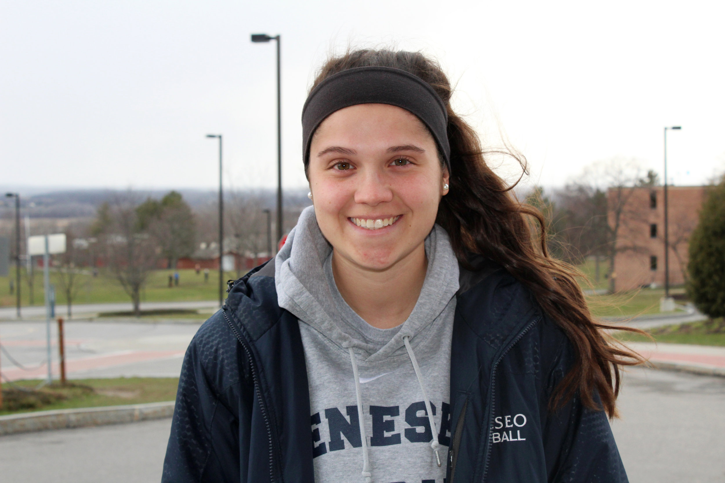 Junior third baseman Anna Merante has become a significant part of the Geneseo softball team. After Geneseo, Merante plans on using her degree  in  biology to become a veterinarian.  (Catherine White/arts & entertainment editor)
