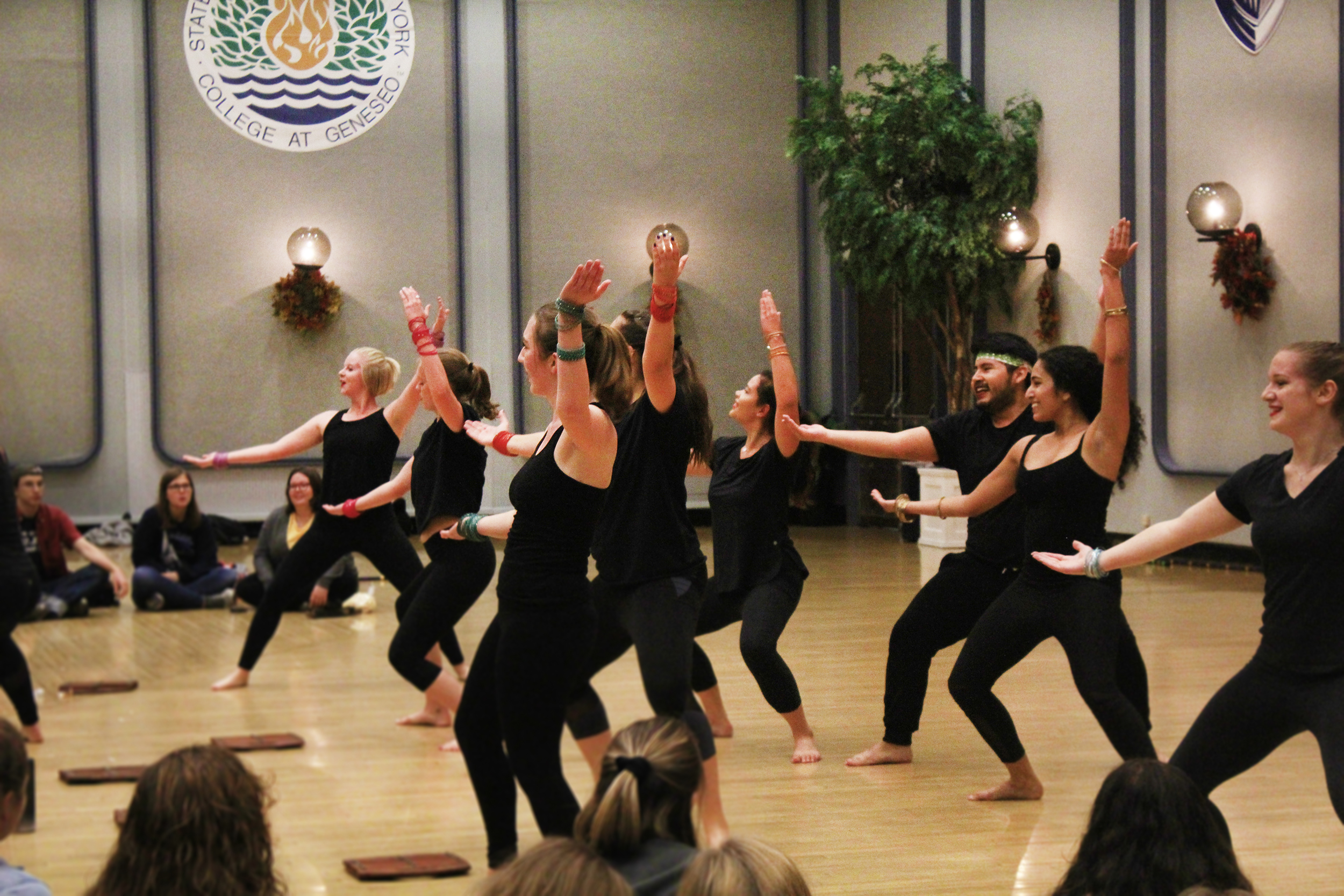 Gajjda Bhangra (pictured above) was one of the many student organizations who performed at Geneseo's first ever Fall Fest that took place in the Union Ballroom on Thursday Oct. 11. The event consisted of various musical performances, food trucks and fall-themed activities. (Annie Renaud/Staff photographer)