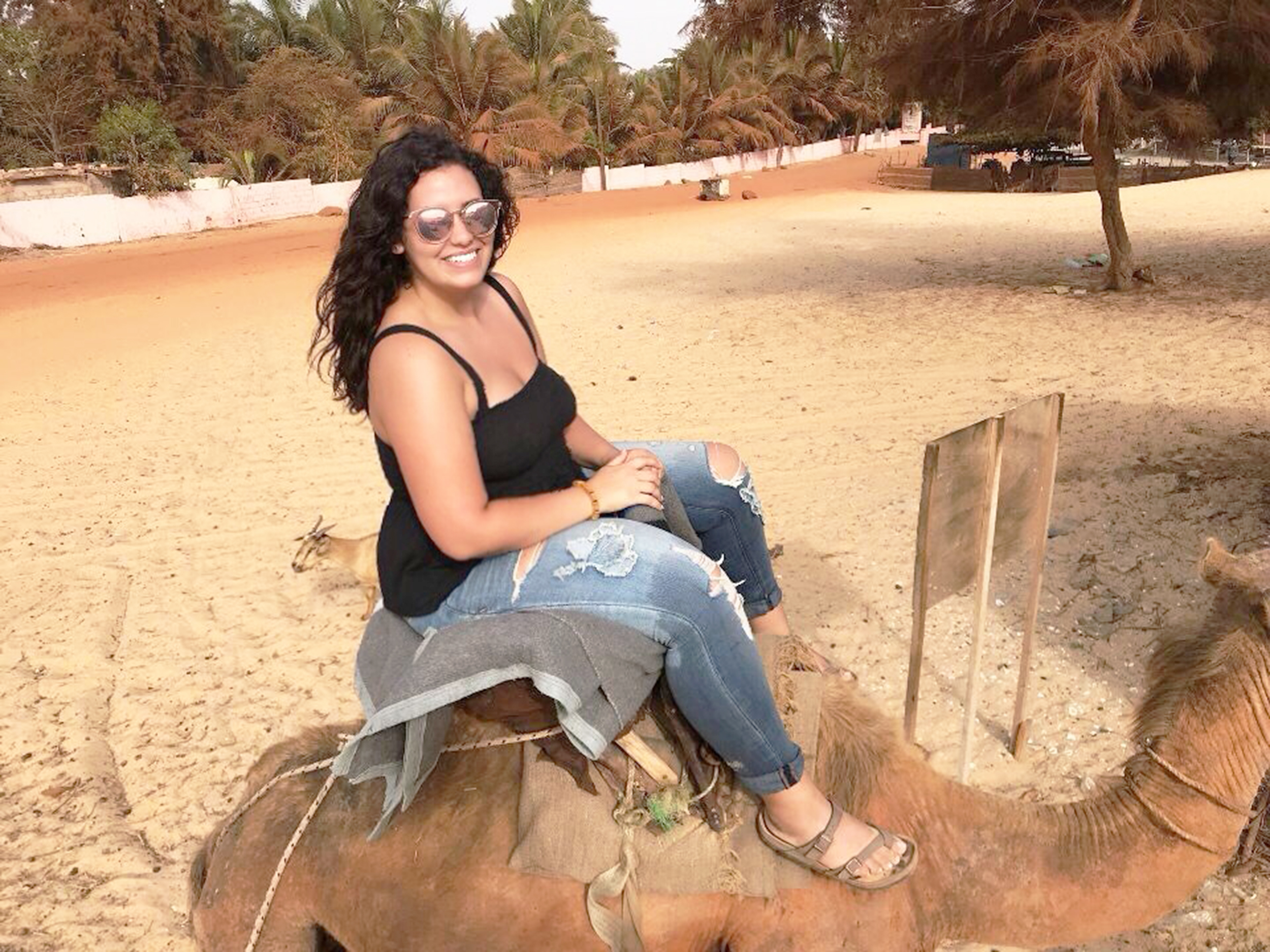 Casey Ellis (pictured above) traveled to Dakar, Senegal this past summer through a Geneseo program led by coordinator of the French Language program Kodjo Adabra. Ellis stayed with a host family, which allowed her to fully experience the French-speaking culture while improving her fluency in the language. (Courtesy of Casey Ellis)