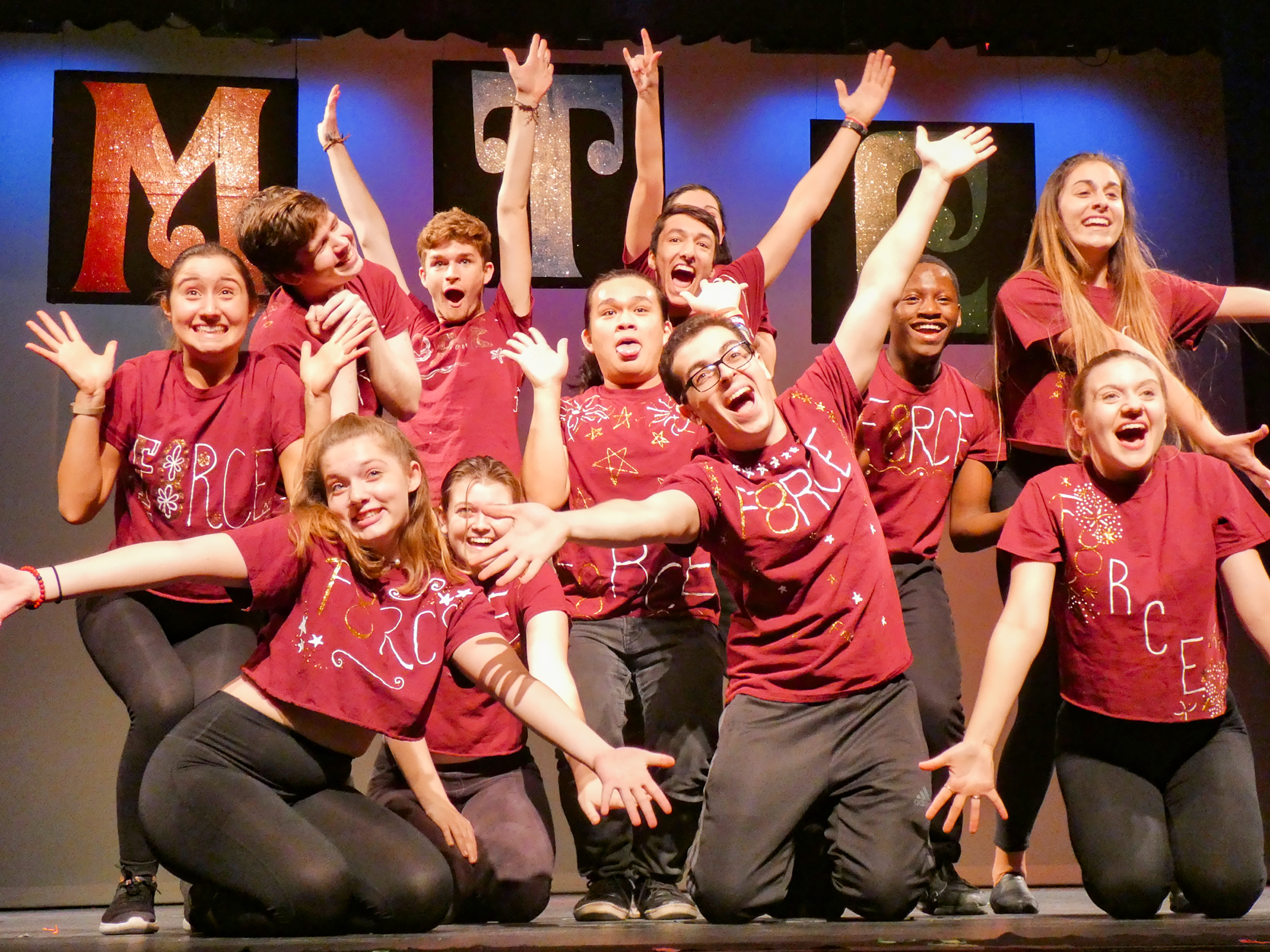 """The student-run show """"MTC:Undercover"""" took place in Wadsworth Auditorium on Friday, Nov. 30 and Saturday Dec. 1. The cast (pictured above) sang songs following an """"undercover"""" theme. (Sophie Yeomans / Staff Photographer)."""