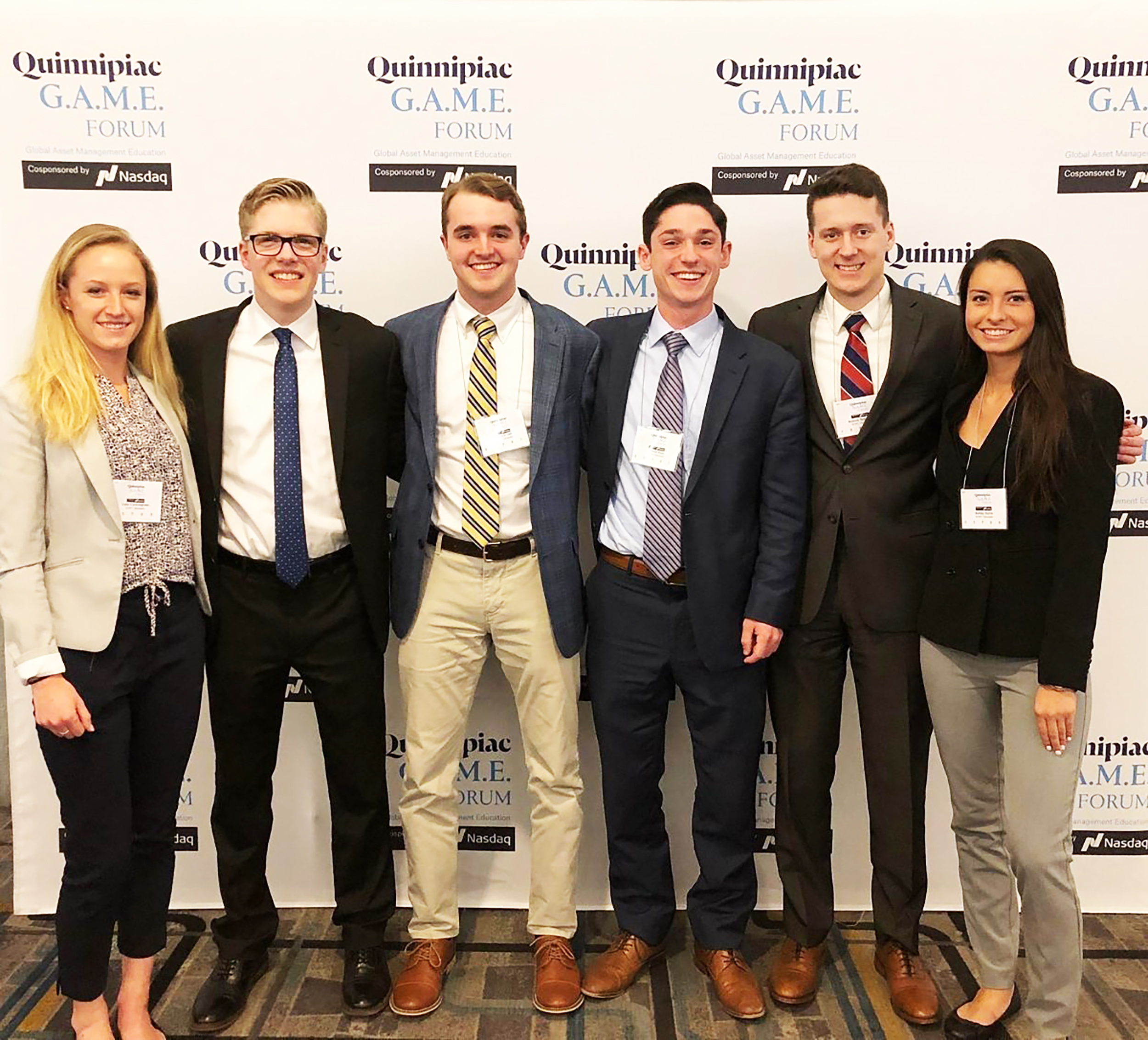 The Student Managed Investment Fund is an on-campus organization responsible for collaboratively deciding where to invest $300,000 of Geneseo's endowment fund. Last March, SMIF's executive board (pictured above) had the opportunity to attend the Global Asset Management Education Forum in New York City (Courtesy of James Anania).