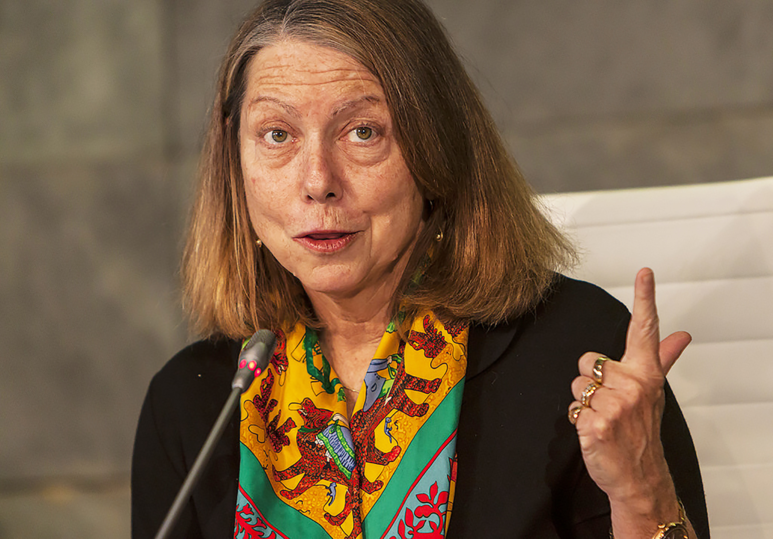 Former New York Times executive editor Jill Abramson (pictured above) published a book on Feb. 5, which turned out to be factually and ethically flawed. Instead of being sheltered by the media due to her journalism experience, she must be held publicly accountable (courtesy of Creative Commons).