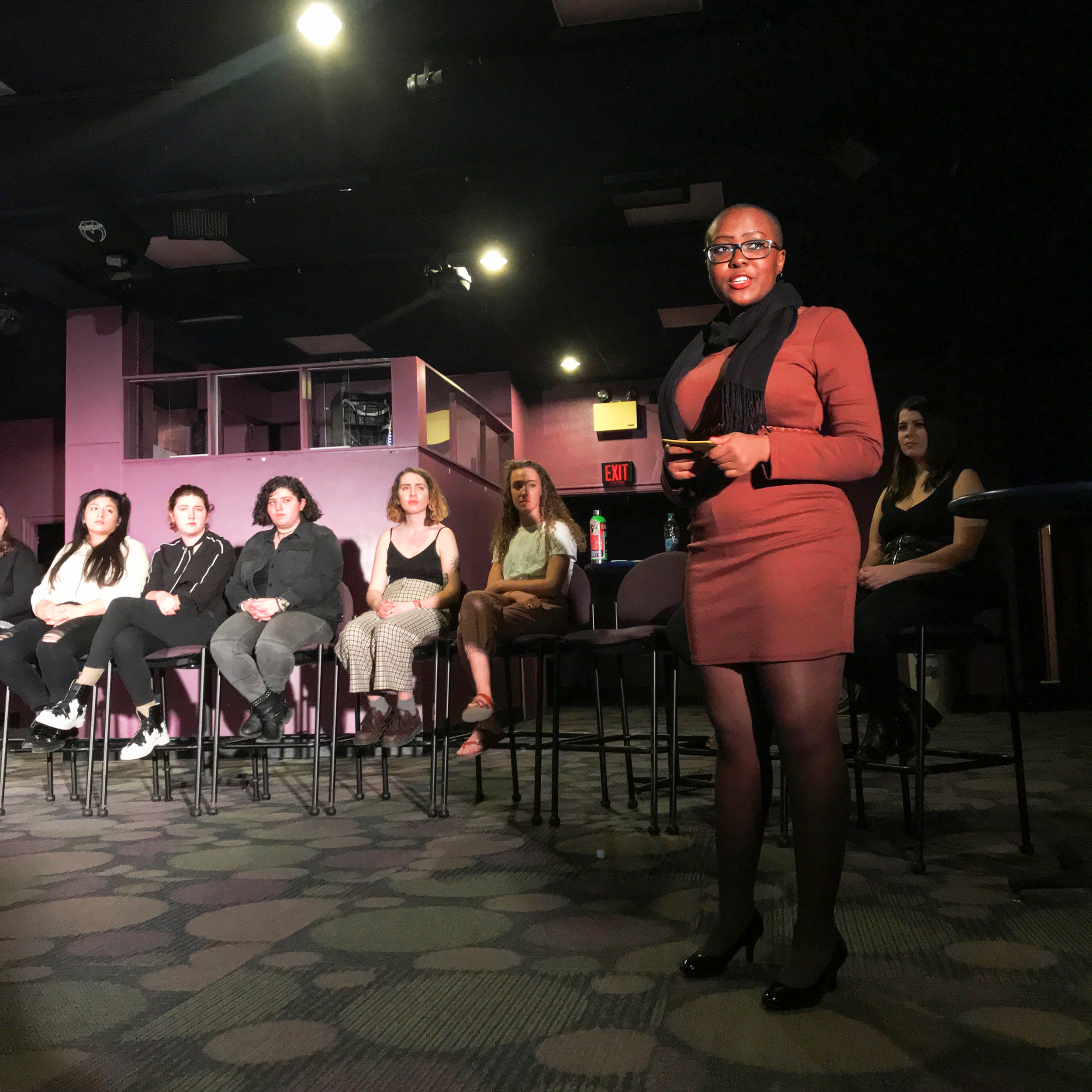 """""""The Vagina Monologues,"""" put on by the Women's Action Coalition, took place from Friday Feb. 15 to Sunday Feb. 17 in the Knight Spot. This show involves monologues that depict issues relevant to the vagina (Chloe Shay/Staff Photographer)."""