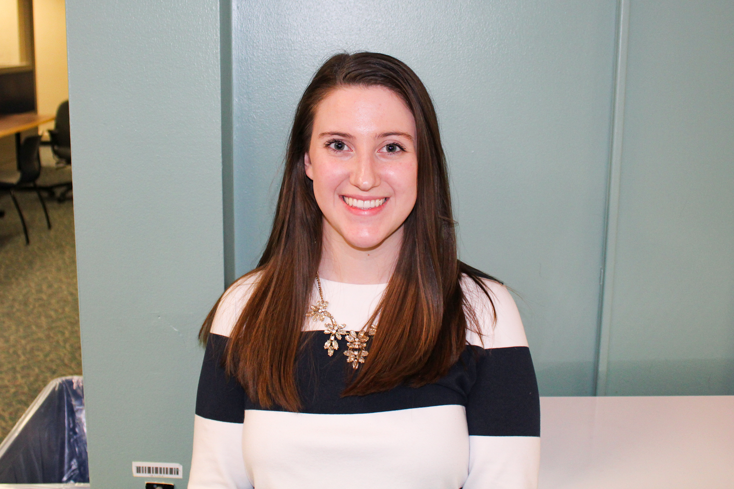 Emily Matura is a communication and political science double major junior who is running to be the SA President for the next academic year. She is one of two candidates running for the position. Matura currently serves as SA Director of Inter-Residence Affairs (Malachy Dempsey/Managing editor)
