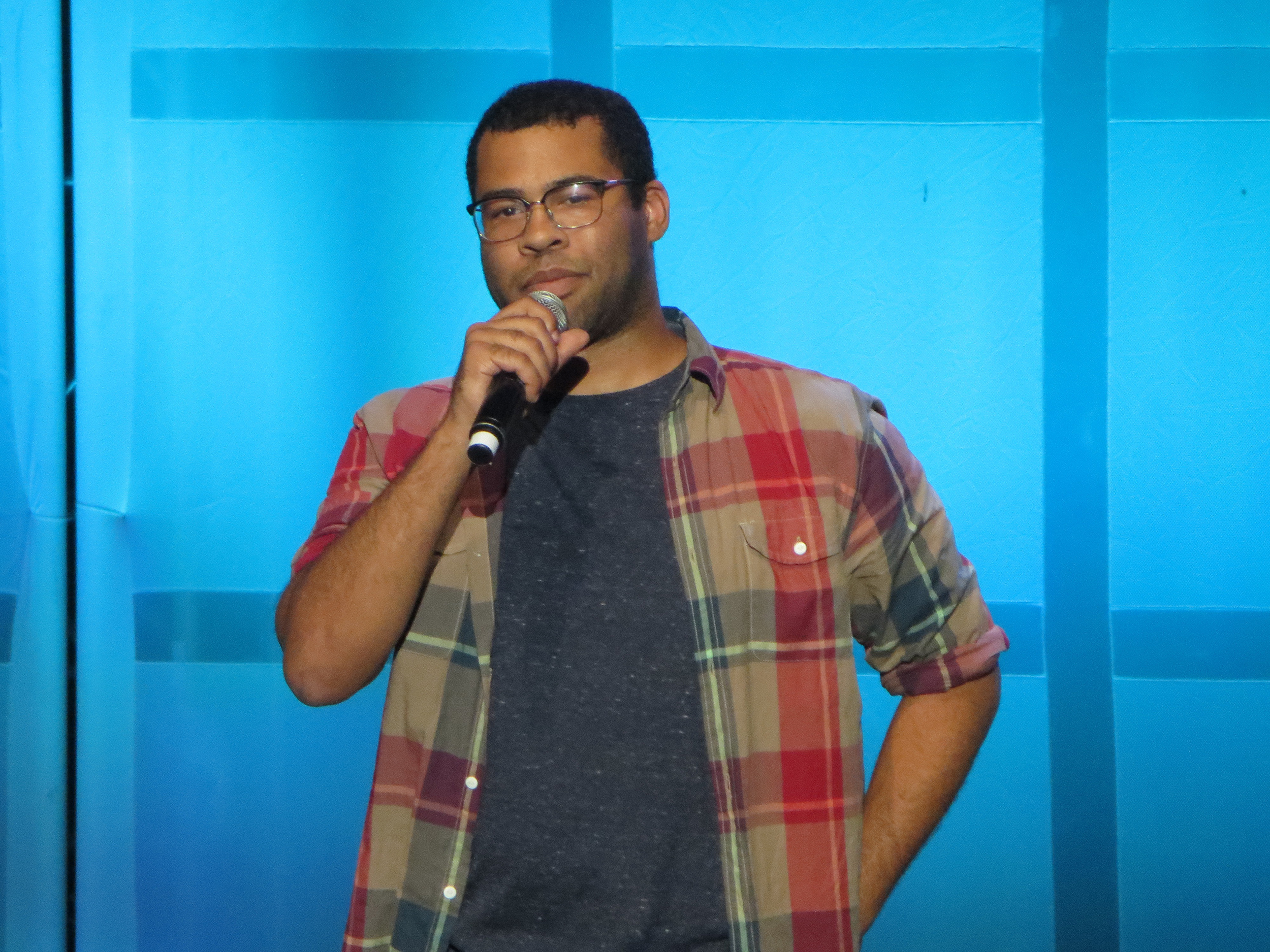 Jordan Peele performs live in concert at Shoreline Comedy Jam in 2012. Peele had wild success with his first film Get Out and is trying for a second box-office hit with Us (courtesy of Creative Commons).