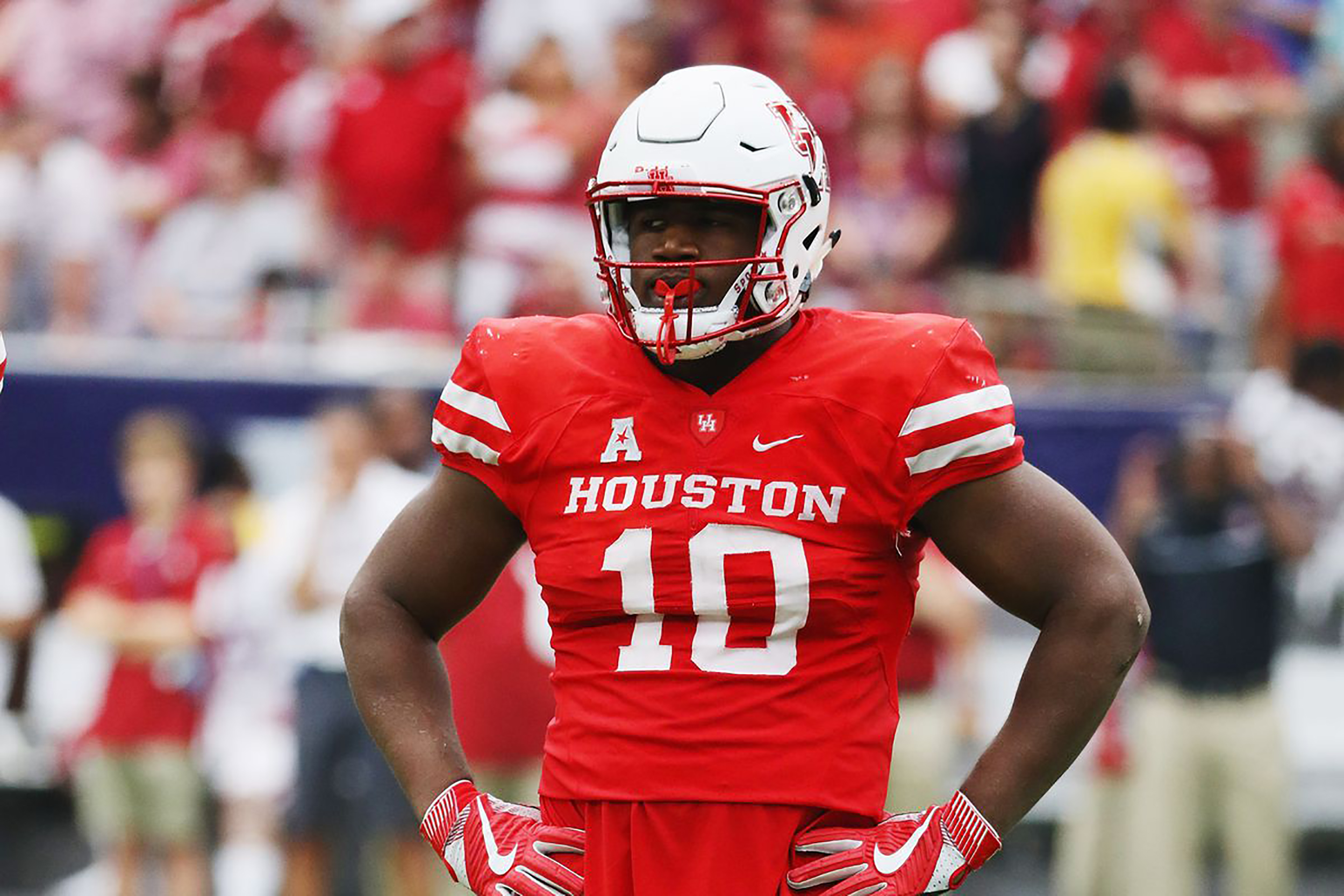 Defensive tackle Ed Oliver (pictured above) recently came to Buffalo for a pre-draft visit. Buffalo may draft Oliver with their ninth pick (courtesy of Creative Commons).