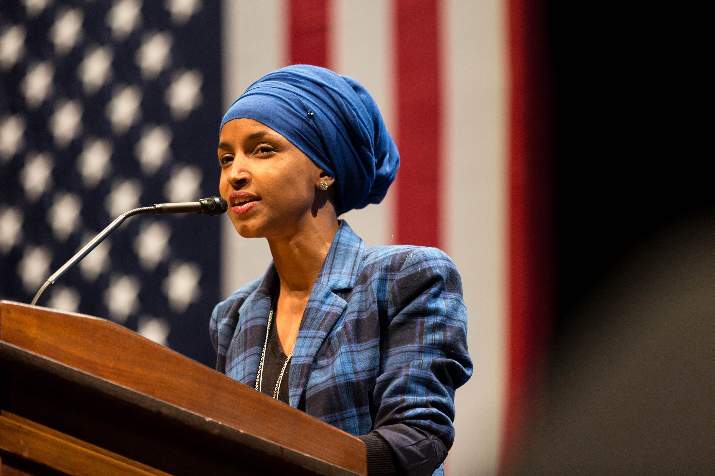 Somali American Congressional Rep. Ilhan Omar (pictured above) became the subject of serious violent threats and Islamophobia following a tweet by President Donald Trump and news coverage by The New York Post. This public villification of this politician should not be tolerated or overlooked (Lorie Shaull/Creative Commons).