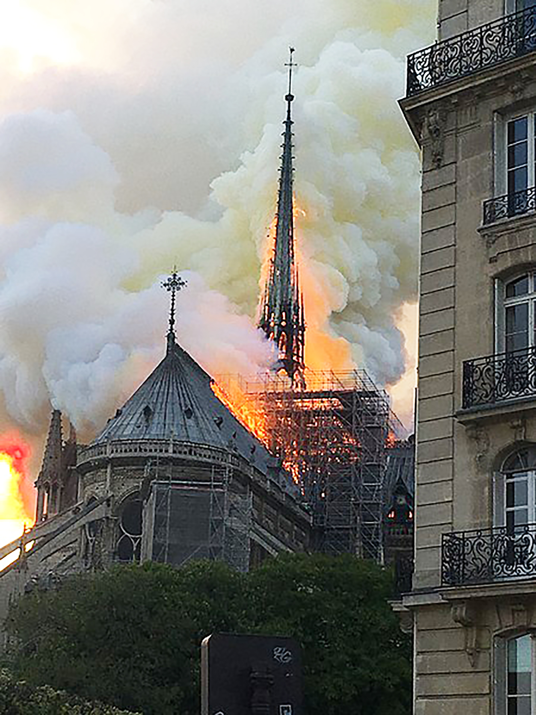 An electrical fire tore through the historic Notre Dame Cathedral on April 15. The church was currently under construction and housed many artifacts (courtesy of Creative Commons).