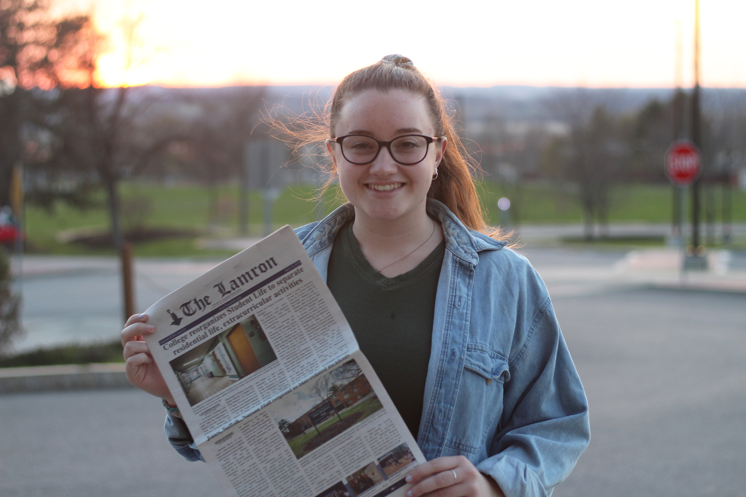 Junior Julia Skeval (pictured above) will be seizing the editor-in-chief role for the 2019-2020 school year after holding multiple positions within The Lamron throughout her college career. Skeval is looking forward to building The Lamron's reputation and to getting to know the new e-board (Catherine White/outgoing Editor-in-Chief).