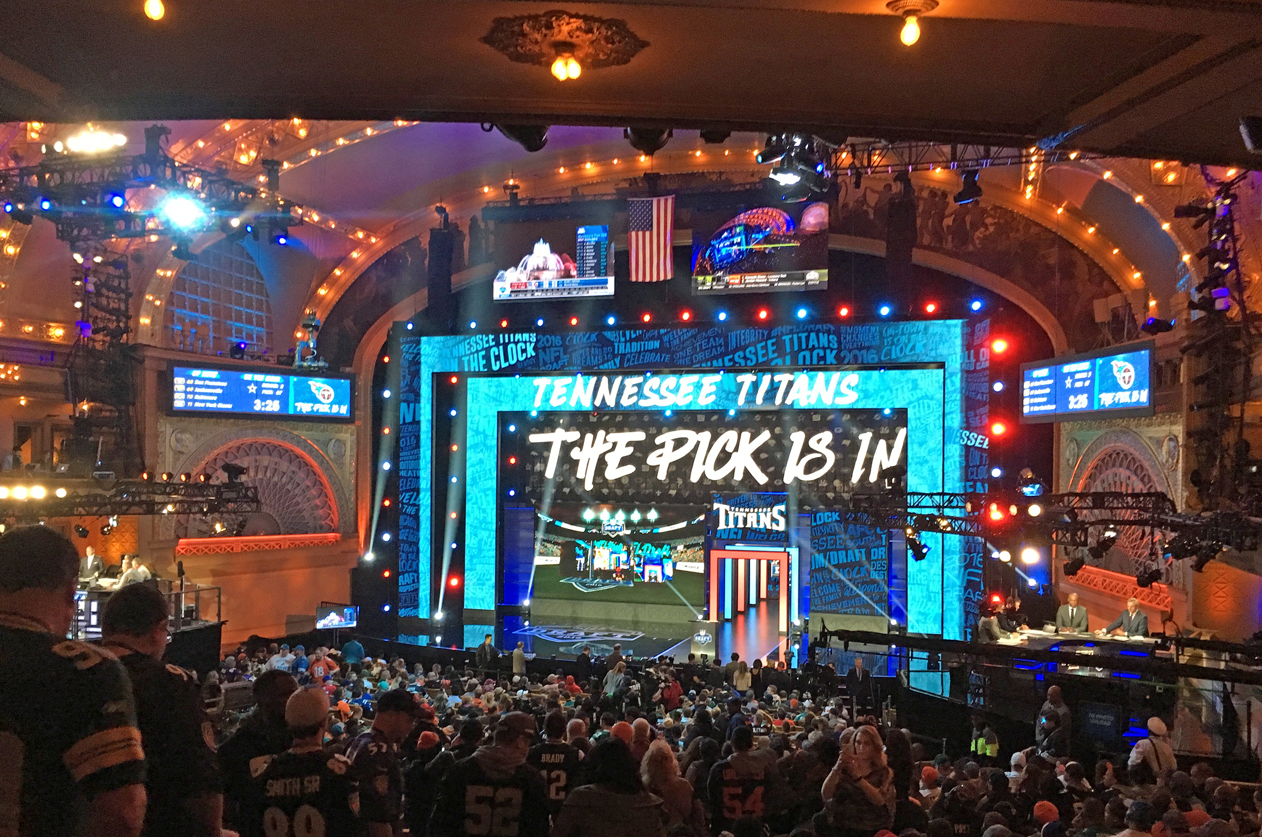 The NFL draft (pictured above) will be where many future professional players will hear their names called. The draft will take place on Thursday April 25 in Nashville, Tenn. (courtesy of Creative Commons).
