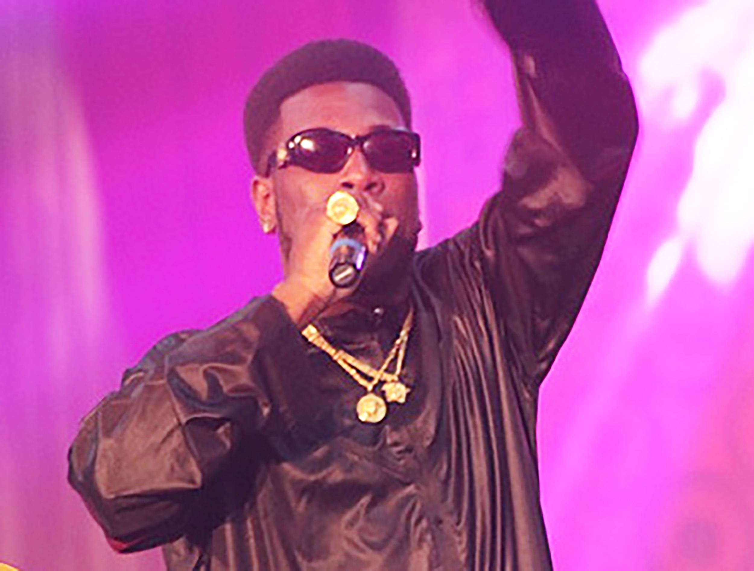Burna Boy (pictured above) performs at a concert in Ghana. Damini Ebunoluwa Ogulu — known musically as Burna Boy — creates songs in the genre known as Afro-fusion. African Giant focuses on Nigeria but also broadly comments on African culture and life (courtesy of Ameyaw Debrah).