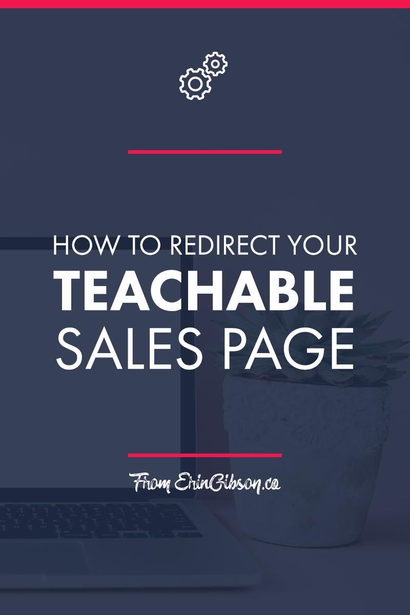 How to redirect your Teachable sales page to another website