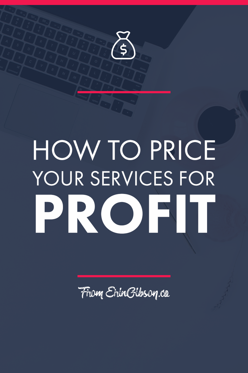 How to price your services for profit