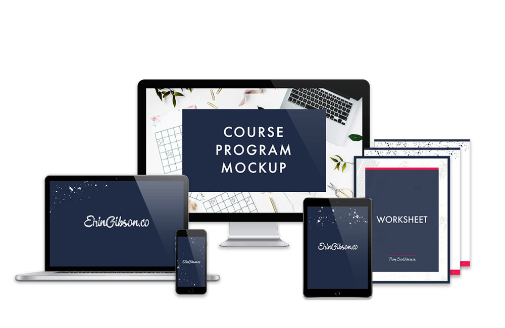 Course Program Mockup - Photoshop Template