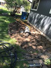 Tilling the flower bed