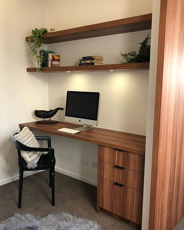 Every house needs a study area!! #photooftheday #instakitchen #study #led #apple #filing #sunshinecoast #maroochydore #barndoors  www.thecabinethouse.com.au