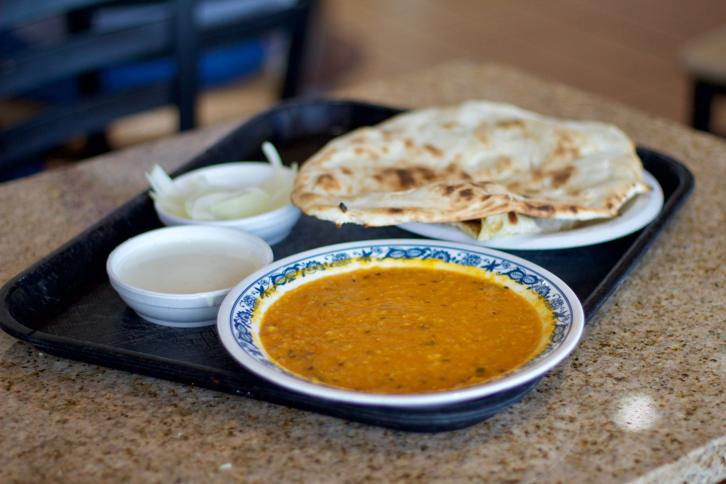 A meal for under $4 at Ghareeb Nawaz. Photo by Dawson Vosburg.