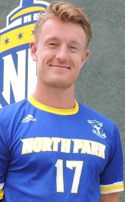 Matias Warp. Photo courtesy NPU Men's Soccer.