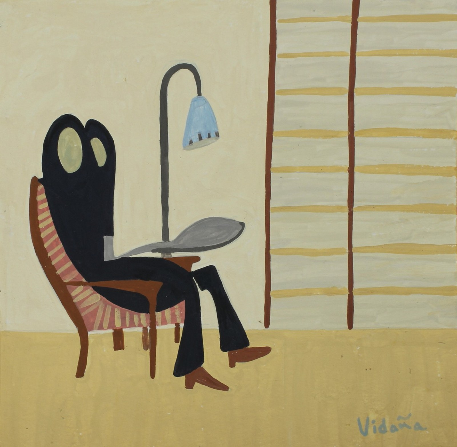 Pink Chair and Spoon