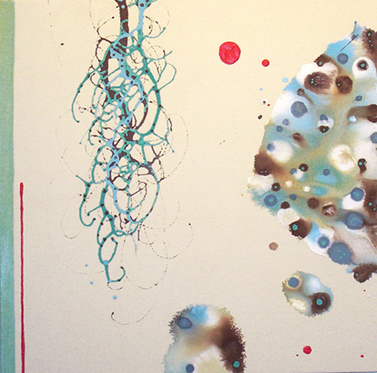 Symbiogenesis  , 2005, Acrylic on canvas, 28 x 28 in.  Collection of Duncan Dobbelmann