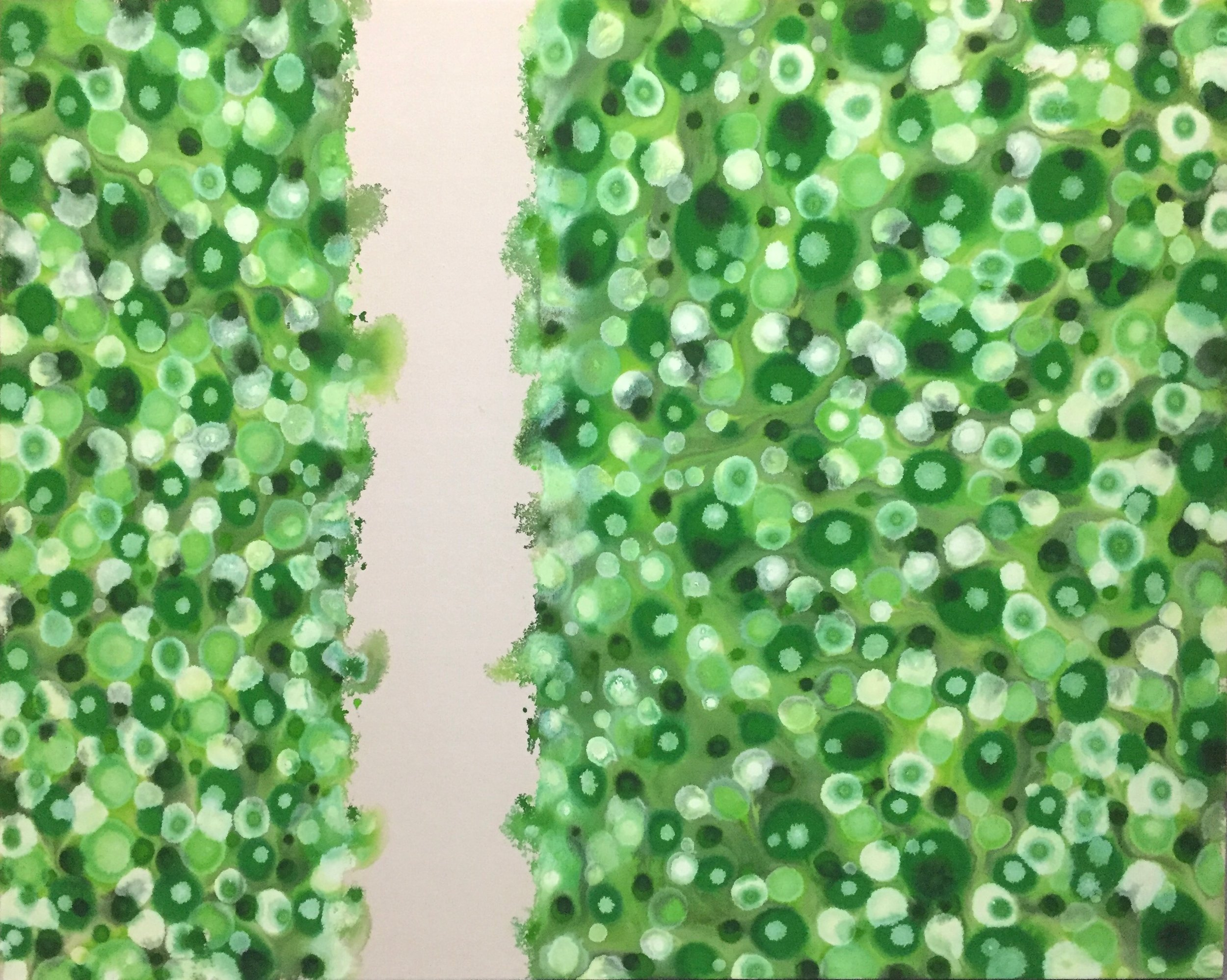 Verdant Veracity  , 2015, Acrylic on canvas, 48 x 60 in.