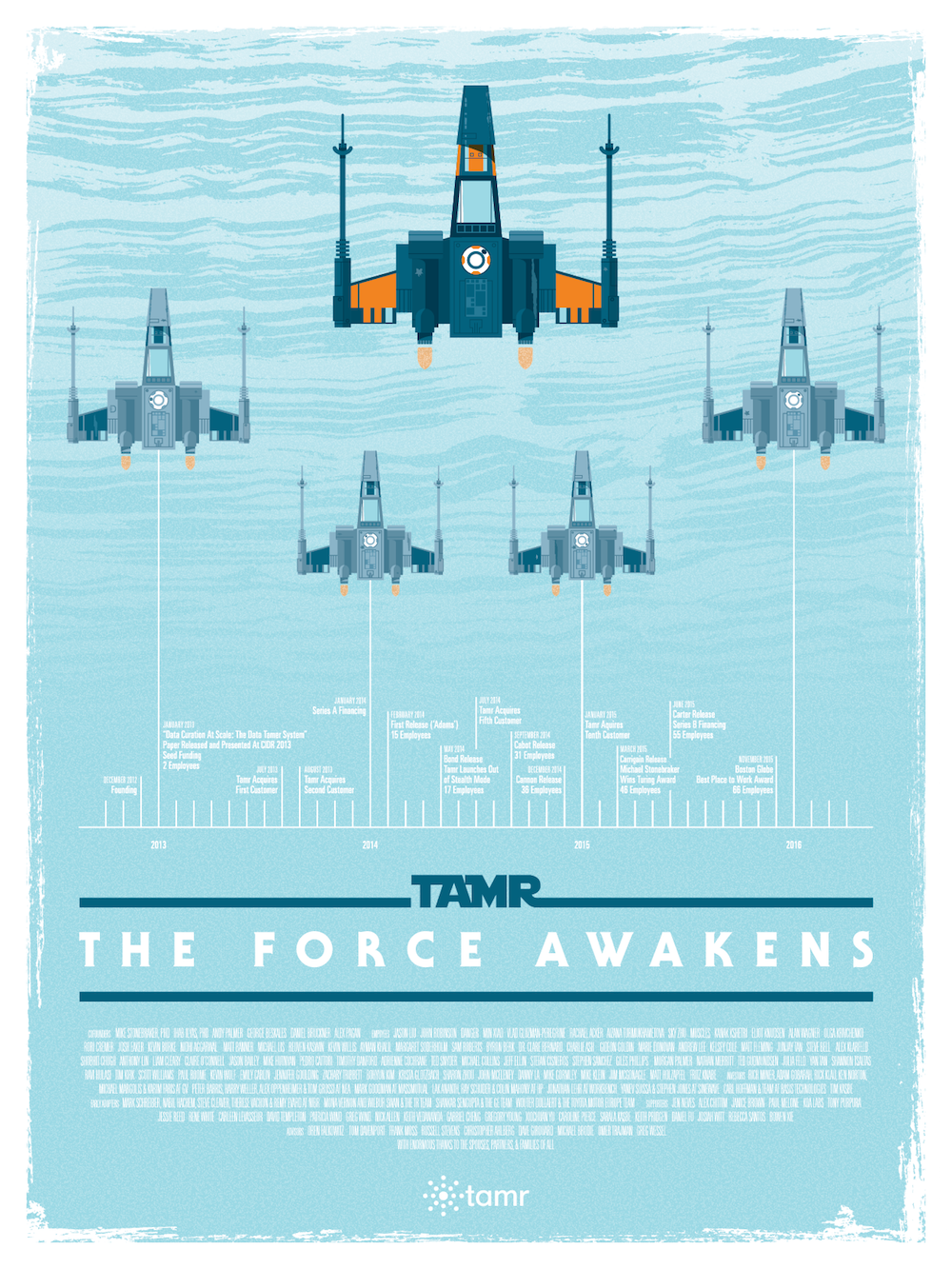 Tamr 2015 Holiday Poster - Light Side