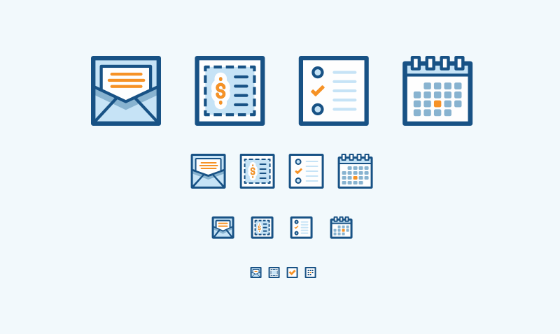 Toolkit Campaign Type Illustrations   At launch we went with simpler icons for each campaign type available.