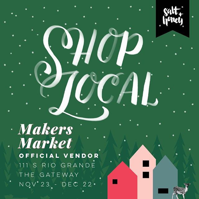 Come see us just in time for the holidays @saltandhoneymarket at the Gateway in Salt Lake City! #shoplocal #tistheseason #handmade #gifts #holidays #Christmas #soycandles #solidperfume #solidcologne