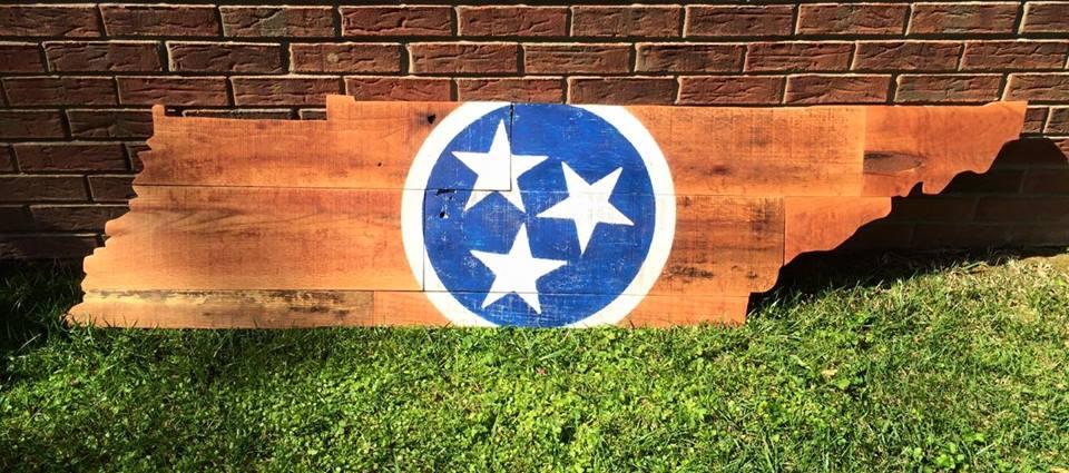 6 Foot TN on TN Oak with Center Tri Star