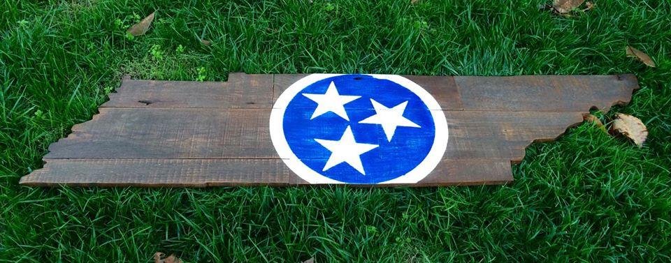 6 Foot TN on TN Oak with Center Tri Star- Dark Brown Stain over oak