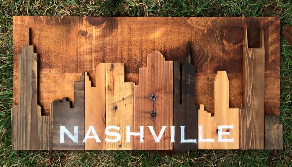"Nashville Skyline 35""x17"""