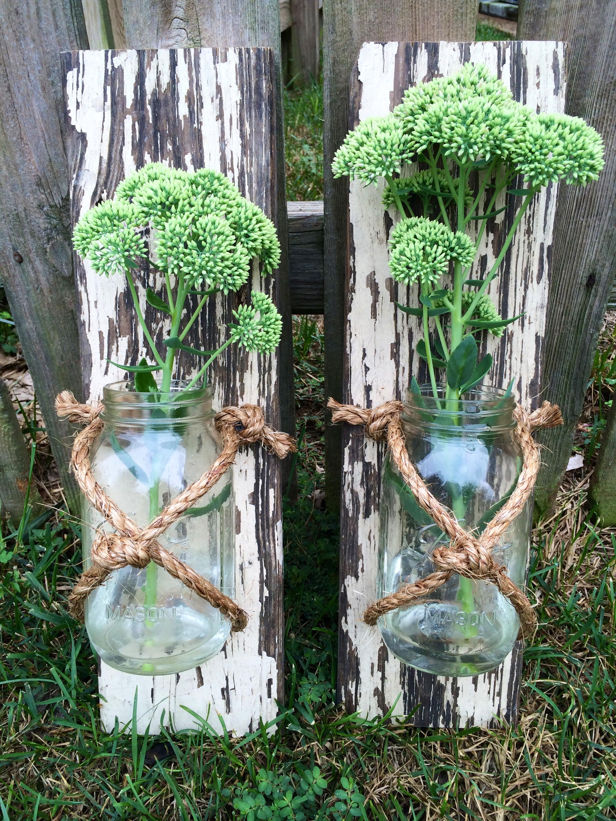 Mason Jar Wall Hangers (Jar can be removed)