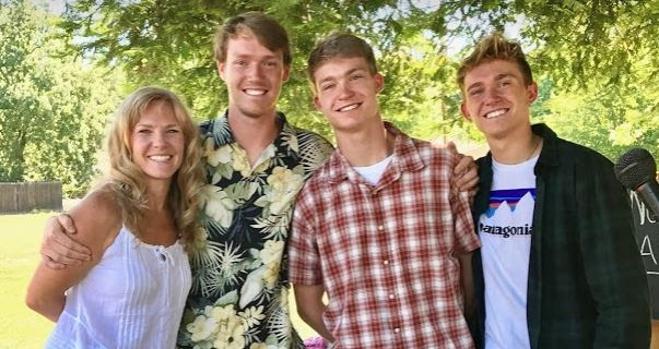 Miss Lainie and her threee boys, Alec, seth & Clay,