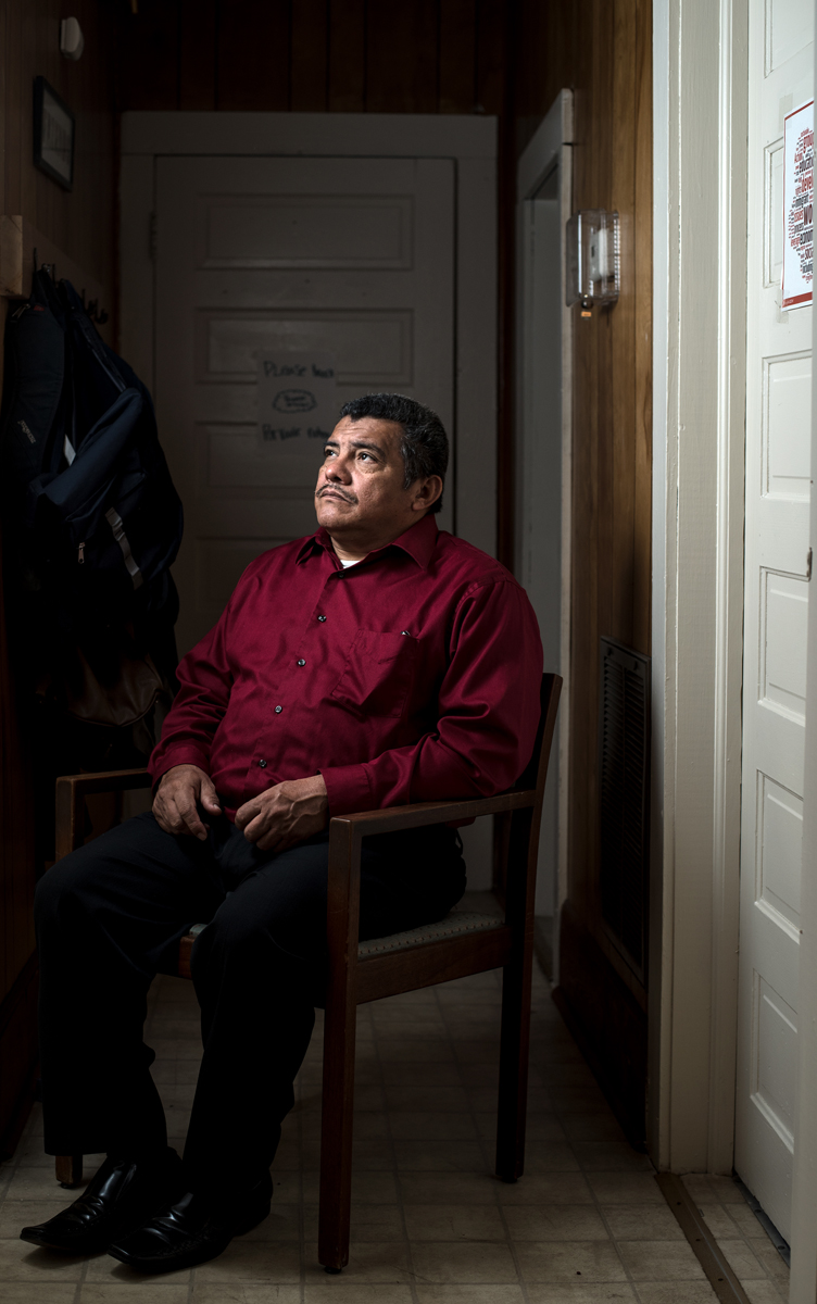 Jose Chicas, 52, a pastor from Raleigh, is currently seeking asylum from ICE inside Durham's School for Conversion, a religious education center, located next to St. John's Missionary Baptist Church. Chicas has been at the center since June 2017. He fled El Salvador during the violent Civil War in 1985, where he then came to the United States. During his regular ICE check-in last spring, he quickly learned his deportation was no longer put on hold. If Chicas gets deported, he leaves behind his wife and four children, who still live in Raleigh.