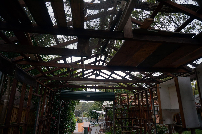 Fibro shed demolish