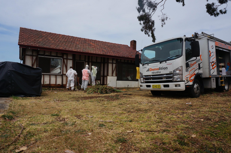 Asbestos removal workers