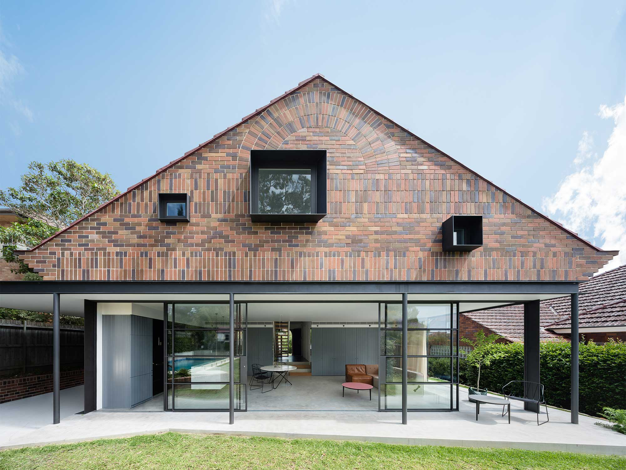 A particularly creative application of brick facade