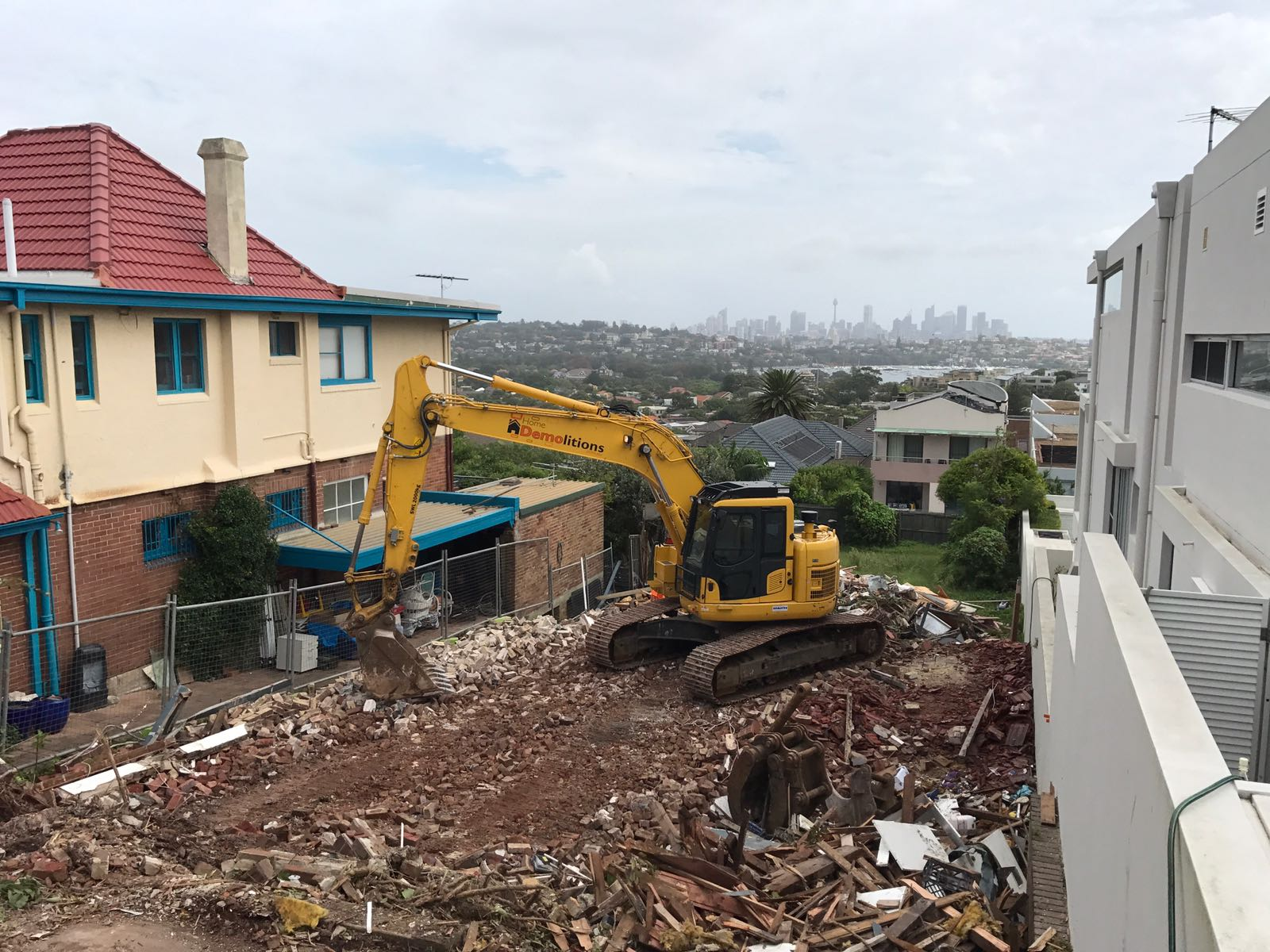 This Demolition job at Dover Heights came with a stunning veiw of the Sydney skyline.
