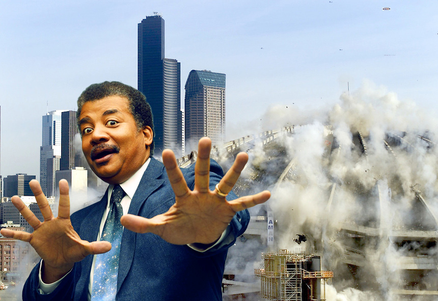 Geez, calm down Neil, we know 'building implosion' isn't an actual 'implosion'.