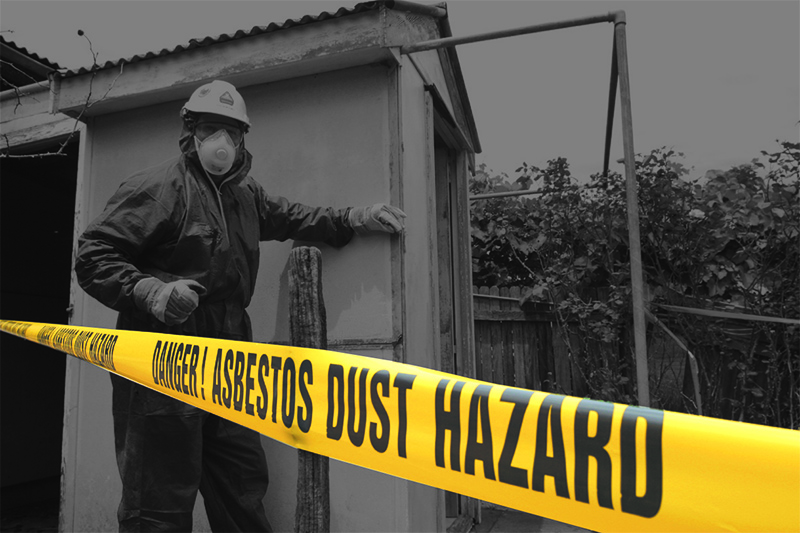 Asbestos fibres can lead to serious health problems if inhaled so it is important asbestos is removed safely by a trained professional.