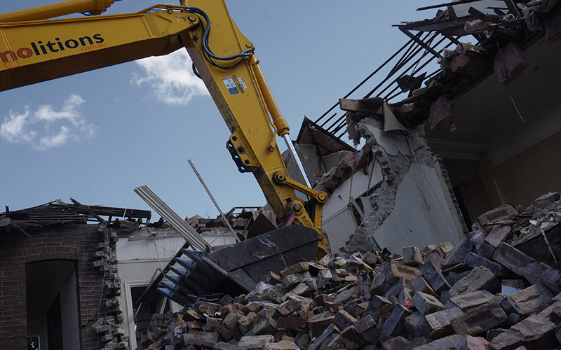 So You Want To Demolish A House Part Four: Structural Demolition.